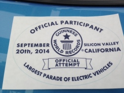 """My husband's Nissan Leaf made history. It was among the 507 al-electric vehicles that set a new world record Saturday during an EV parade in Cupertino, California. But there were reminders that we have a long way to go before EV drivers are indeed the """"new normal."""""""